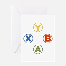 Xbox Buttons Greeting Cards