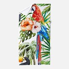 Funny Parrot Beach Towel