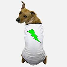 Neon Green Lightning Bolt Dog T-Shirt