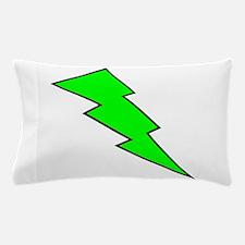 Neon Green Lightning Bolt Pillow Case