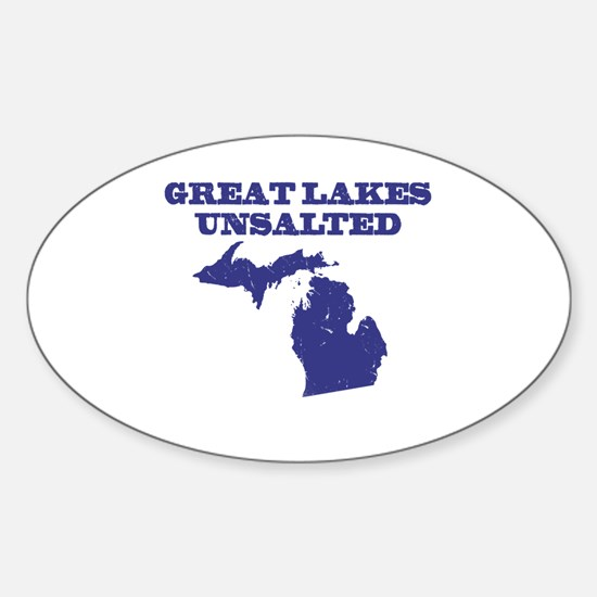 Great Lakes Unsalted Sticker (Oval)