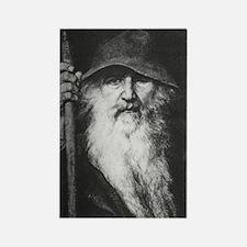 Odin the Wanderer Rectangle Magnet