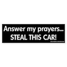Steal this Car Bumper Bumper Sticker