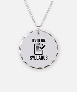 It's In The Syllabus Necklace