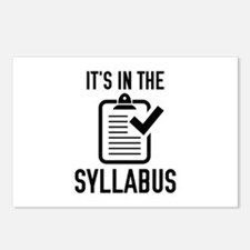 It's In The Syllabus Postcards (Package of 8)