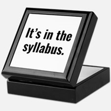 It's In The Syllabus Keepsake Box