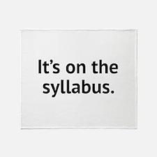 It's On The Syllabus Stadium Blanket