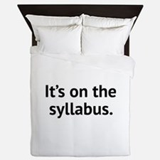 It's On The Syllabus Queen Duvet