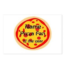 Personalized Pizza Fan Of the Year Postcards (Pack
