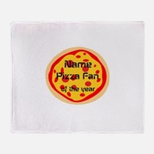Funny Pizza Fan Throw Blanket