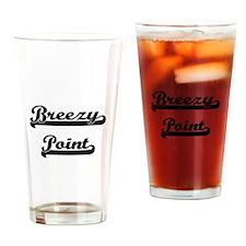 Breezy Point Classic Retro Design Drinking Glass