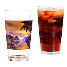 Dinosaur Skeleton Drinking Glass