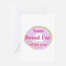 Funny Donut Fan Greeting Cards (Pk of 10)