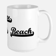 Cape Henlopen Beach Classic Retro Design Mugs