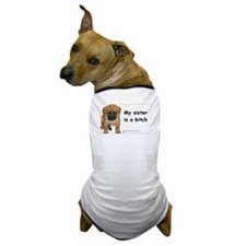 Sibling Rivalry Dog T-Shirt