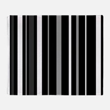 Black, Grey and white stripes Throw Blanket