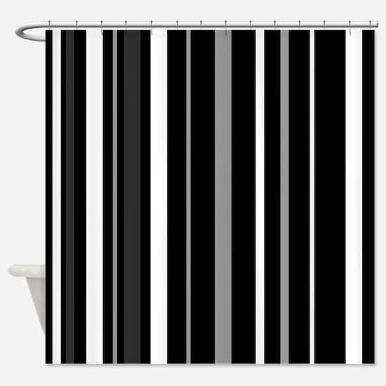 black white striped shower curtain. Black  Grey and white stripes Shower Curtain And White Stripes Curtains CafePress