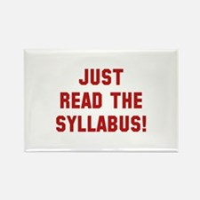 Just Read The Syllabus Rectangle Magnet