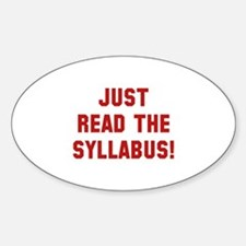Just Read The Syllabus Decal