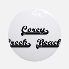 Corey Creek Beach Classic Retro D Ornament (Round)