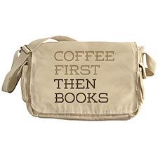 Coffee Then Books Messenger Bag