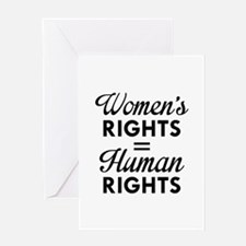 Women's Rights Are Human Rights Greeting Card