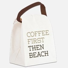 Coffee Then Beach Canvas Lunch Bag