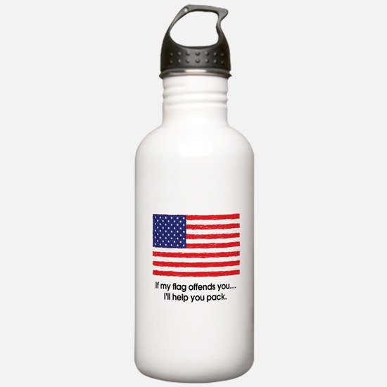 Flag Offends Water Bottle