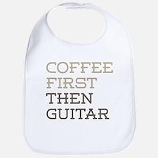 Coffee Then Guitar Bib