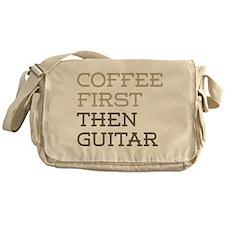 Coffee Then Guitar Messenger Bag