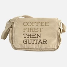 Coffee Then Guitar Messenger Bag
