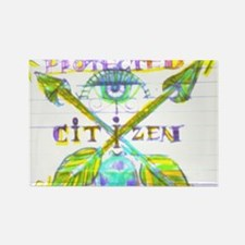 Protected Citizen Rectangle Magnet