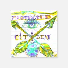"""Protected Citizen Square Sticker 3"""" x 3"""""""