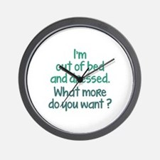 What More Do You Want? Wall Clock