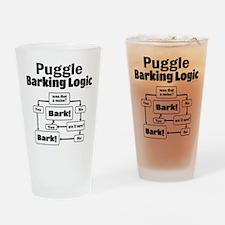 Puggle Logic Drinking Glass