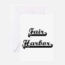 Fair Harbor Classic Retro Design Greeting Cards