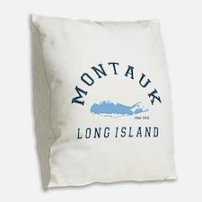 Montauk - Long Island. Burlap Throw Pillow