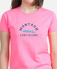 Montauk - Long Island. Women's Dark T-Shirt