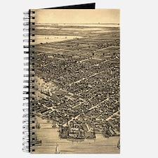 Vintage Pictorial Map of Key West FL (1884 Journal
