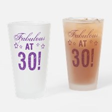 Fabulous 30th Birthday Drinking Glass