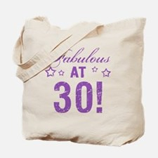 Fabulous 30th Birthday Tote Bag