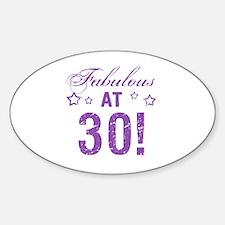 Fabulous 30th Birthday Decal