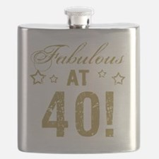 Fabulous 40th Birthday Flask