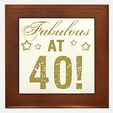 Fabulous 40th Birthday Framed Tile