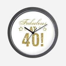 Fabulous 40th Birthday Wall Clock
