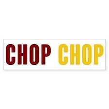 Tomahawk Chop Bumper Car Sticker