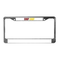 Tomahawk Chop License Plate Frame