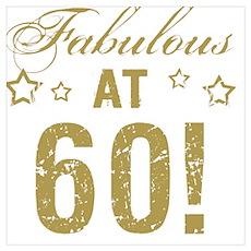 Fabulous 60th Birthday Poster