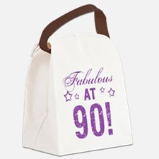 Fabulous 90th Birthday Canvas Lunch Bag
