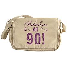 Fabulous 90th Birthday Messenger Bag